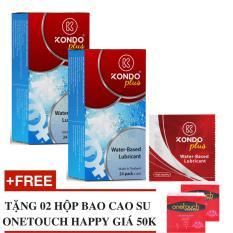 Giá Bán Rẻ Nhất Bộ 2 Hộp Gel Boi Trơn Thai Lan Dạng Goi Kondo Plus Tặng 2 Hộp Bcs Onetouch Happy