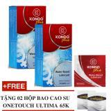 Bán Bộ 2 Hộp Gel Boi Trơn Kondo Plus Made In Thailand Tặng 2 Hộp Bcs Onetouch Ultima Kondo Rẻ