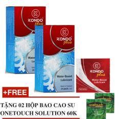 Ôn Tập Bộ 2 Hộp Gel Boi Trơn Thai Lan Hộp 24 Goi Nhỏ Kondo Plus Tặng 2 Hộp Bcs Onetouch Solution Trong Hà Nội