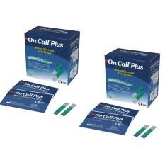 Bộ 2 Hộp Que thử đường huyết Acon On call Plus 25 que (Xanh trắng)