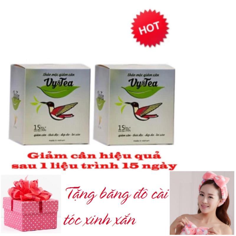 Bộ 2 Hộp Trà thảo mộc giảm cân Vy & Tea - HÀNG CHÍNH HÃNG(Liệu Trình 30 Ngày) - TẶNG BĂNG ĐÔ CÀI TÓC XINH XẮN nhập khẩu