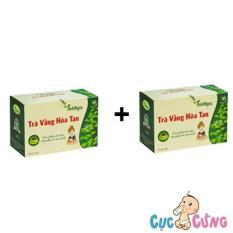 Bộ 2 hộp Trà Vằng Hòa Tan Ánh Ngọc - 20 túi/hộp