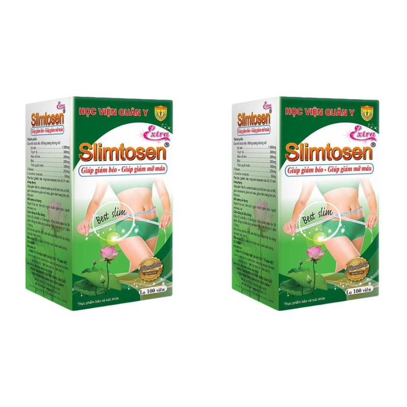 Bộ 2 hộp Viên uống giảm cân Slimtosen Extra Học Viện Quân Y cao cấp