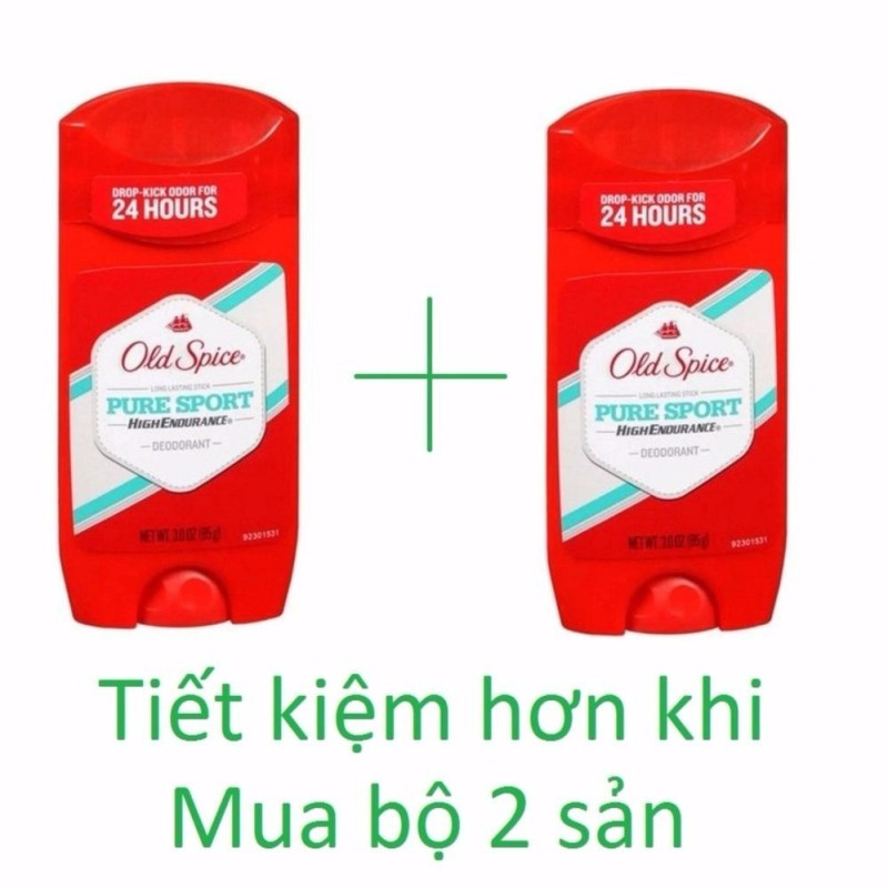 Bộ 2 lăn khử mùi Old Spice Pure Sport High Endurance 85g tốt nhất