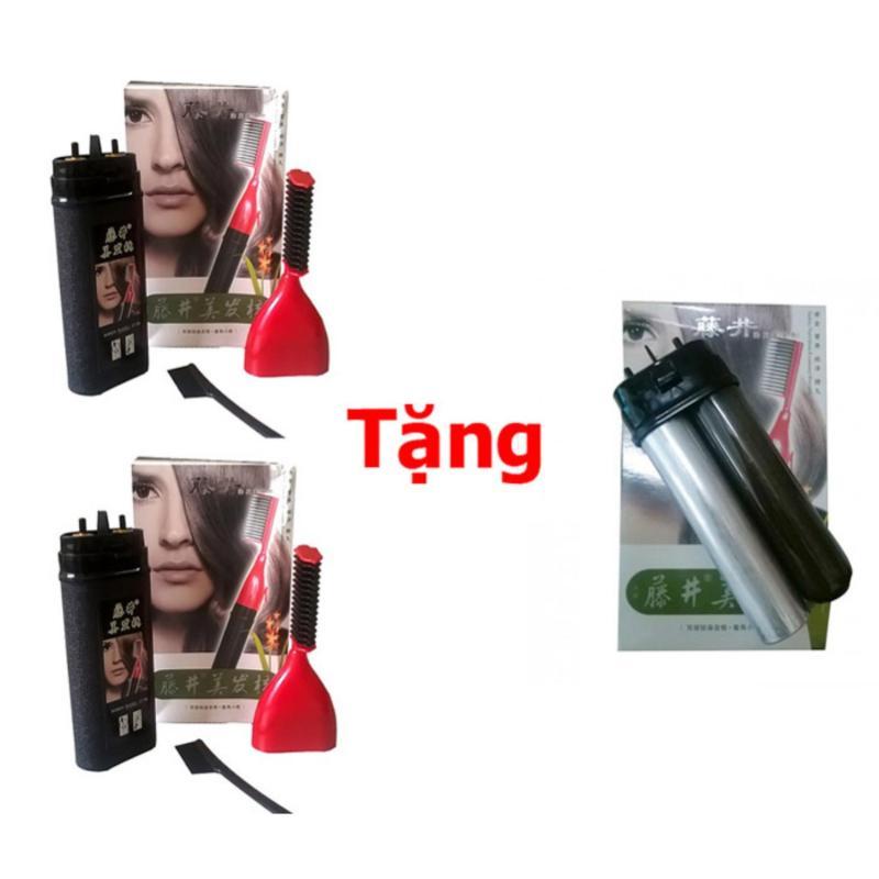 Bộ 2 Lược Nhuộm Tóc Thông Minh Teng Jing + Tặng Kèm Lõi Thuốc Thay Thế (Đen) nhập khẩu