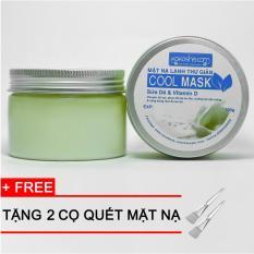 Mua Bộ 2 Mặt Nạ Lạnh Thư Gian Cool Mask Sữa De Vitamin D Tặng 2 Cọ Quet Rẻ Vietnam