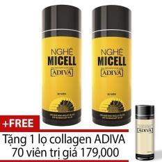Mua Bộ 2 Nghệ Micell Adiva 30 Vien Tặng 1 Lọ Collagen Adiva 70 Vien Adiva