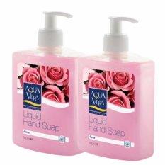 Bộ 2 nước rửa tay Hương hoa hồng AquaVera Liquid Hand Wash 500ml # Rose