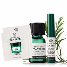 Mua Bộ 4 Sản Phẩm Trị Mụn The Body Shop Tea Tree Oil 10Ml Tea Tree Targetted Gel 2 Sachet Tea Tree Night Mask 5Ml The Body Shop Trực Tuyến