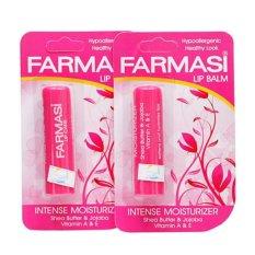 Combo 2 Son Dưỡng Môi Hạt Bơ chống khô và thâm môi Lip Balm Farmasi 5g nhập khẩu