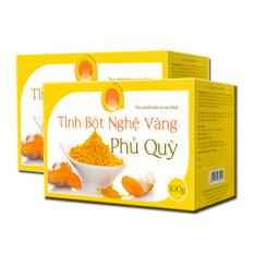 Bán Bộ 2 Tinh Bột Nghệ Vang Nguyen Chất Phủ Quỳ 500G Nguyên