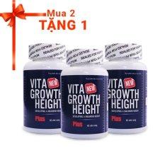 Giá Bán Bộ 2 Vien Tăng Chiều Cao Vita Growth Height 60 Vien Tặng 1 Sản Phẩm Cung Loại Nanofrancemb Tốt Nhất