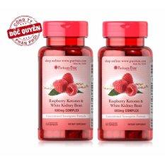 Bộ 2 Viên uống hỗ trợ giảm cân Puritans Pride Raspberry Ketones & White Kidney Bean 600mg Complex 60 viên nhập khẩu