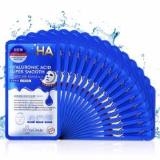 Hình ảnh Bộ 20 Mặt nạ dưỡng da HA MayCreate - Hyaluronic Acid Super Smooth Mask (xanh)