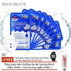 Hình ảnh Bộ 20 Mặt nạ HA MayCreate – Hyaluronic Acid Super Smooth Mask + Tặng tuýp kem dưỡng da tay hương thơm thiên nhiên ( mùi hương ngẫu nhiên )