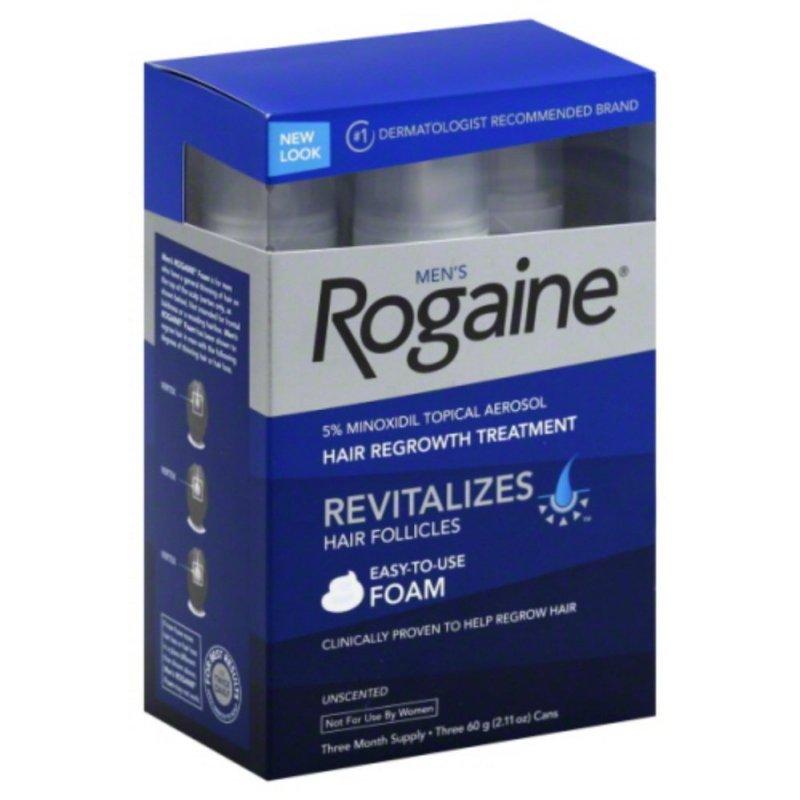 Bộ 3 chai Foam mọc tóc Nam Mens Rogaine Revitalizes Hair Follicles 60g x 3