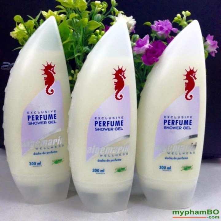 Bộ 3 chai Sữa tắm cá ngựa Algemarin Perfume 300ml Nhập khẩu Đức