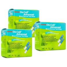 Bộ 3 hộp Que thử đường huyết ACON ON-CALL Advanced 3 x 25 que