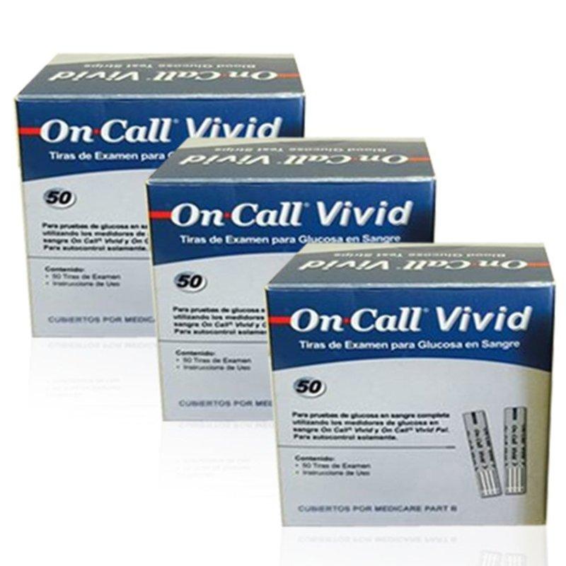 Bộ 3 hộp Que thử đường huyết ON-CALL Vivid 3 x 25 que