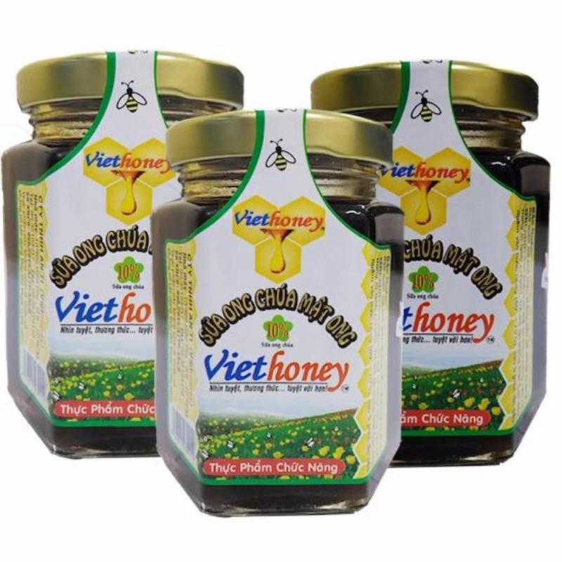 Bộ 3 hũ Sữa ong chúa mật ong Viethoney 300g