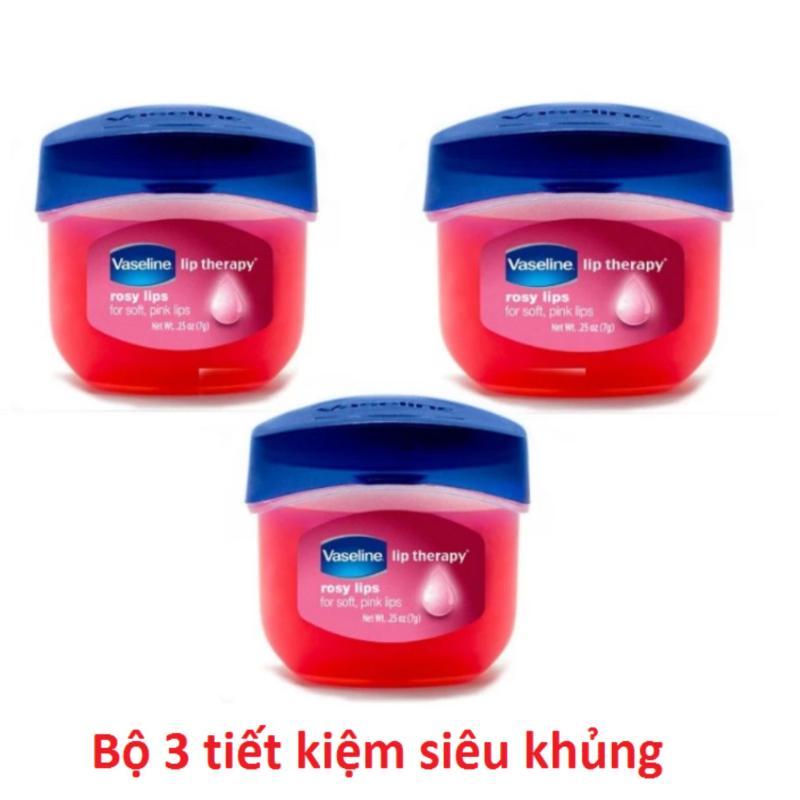 Bộ 3 son dưỡng môi Vaseline Rosy Lips Therapy 7g