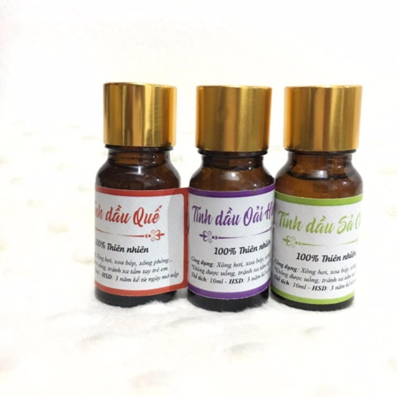 Bộ 3 tinh tinh dầu sả chanh+ oải hương + quế 100% thiên nhiên nhập khẩu