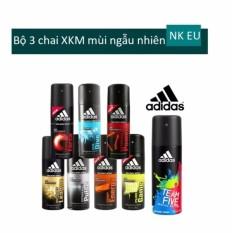 Bộ 3 Xịt khử mùi toàn thân cho nam Adidas - 150 ml x 3 (mùi ngẫu nhiên)