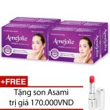 Cửa Hàng Bán Bộ 4 Hộp Thực Phẩm Chức Năng Amejolie Collagen 30 Vien Tặng 1 Son Asami