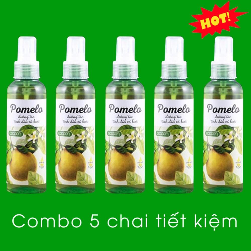 Hình ảnh Bộ 5 Chai Tinh Dầu Bưởi Xịt Tóc Pomelo Cocoon 130ml x 5