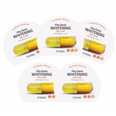 Hình ảnh Bộ 5 gói Mặt nạ giấy dưỡng da trắng sáng và làm đều màu da Banobagi Vita Genic Whitening Jelly Mask (Vitamin C) 30ml x5