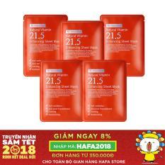 Cửa Hàng Bộ 5 Goi Mặt Nạ Trị Mụn Dưỡng Trắng Da Lam Mờ Vết Tham By Wishtrend Natural Vitamin C 21 5 Enhancing Sheet Mask 23G X5 Rẻ Nhất
