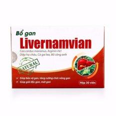 Giá Bán Bộ 5 Hộp Bổ Gan Livernamvian 30V Cho La Gan Khỏe Trực Tuyến Đồng Nai