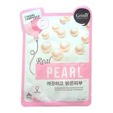 Hình ảnh Bộ 5 mặt nạ dưỡng da Ngọc trai Grinif Real Pearl Mask 25g x 5