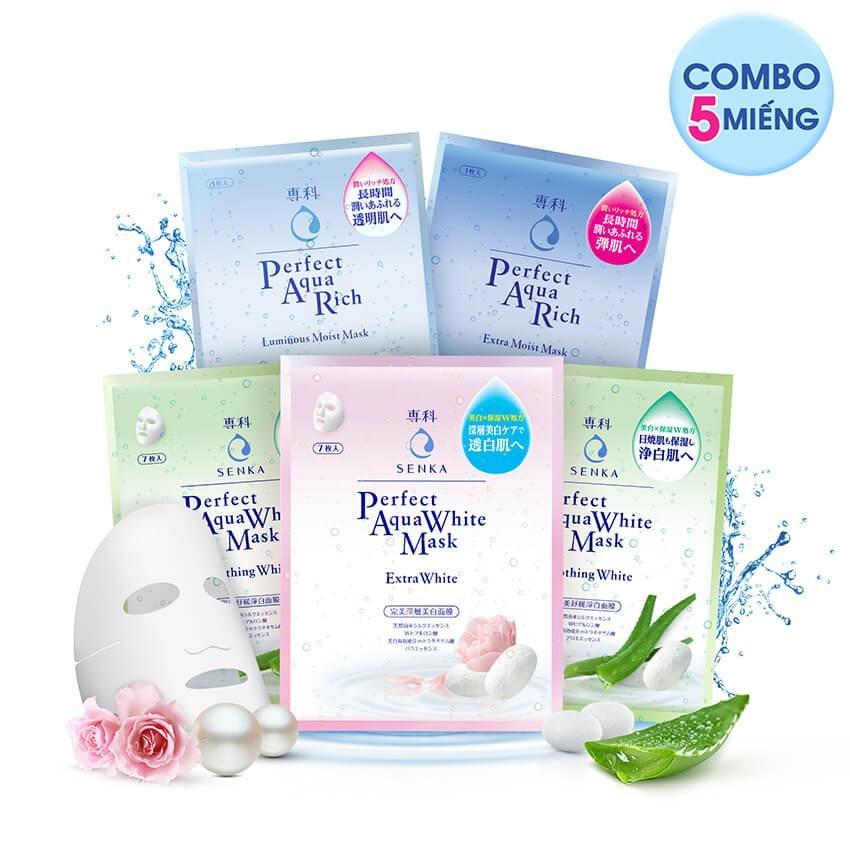 Cửa hàng bán Bộ 5 miếng mặt nạ dưỡng da Senka Perfect Aqua Mask