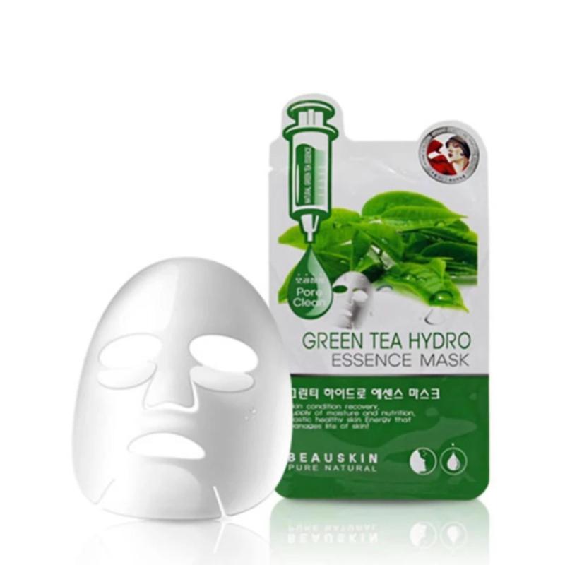 Bộ 5 miếng mặt nạ hút sạch bã nhờn, dầu thừa trên da Green Tea Hydro Essence Mask 20ml nhập khẩu