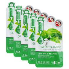 Bộ 5 Miếng Mặt Nạ Hut Sạch Ba Nhờn Dầu Thừa Tren Da Green Tea Hydro Essence Mask 20Ml Hang Chinh Hang Nguyên