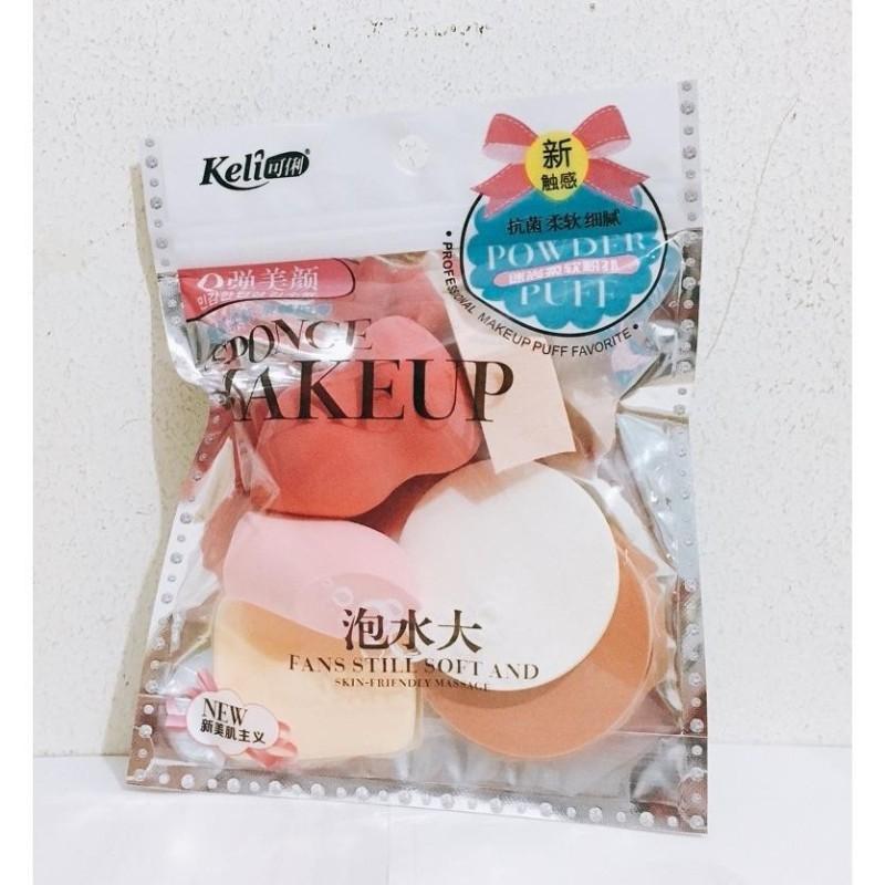 Bộ 6 Bông Mút Trang Điểm Keli Sponge Makeup nhập khẩu