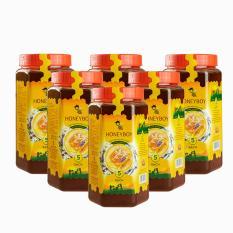 Bộ 6 Mật Ong Thiên Nhiên 5 Sạch Honeyboy 1kg nhập khẩu