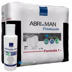 Bộ băng vệ sinh nam Abri man F1 và dung dịch vệ sinh vùng kín Intimate 100 ml nhập khẩu