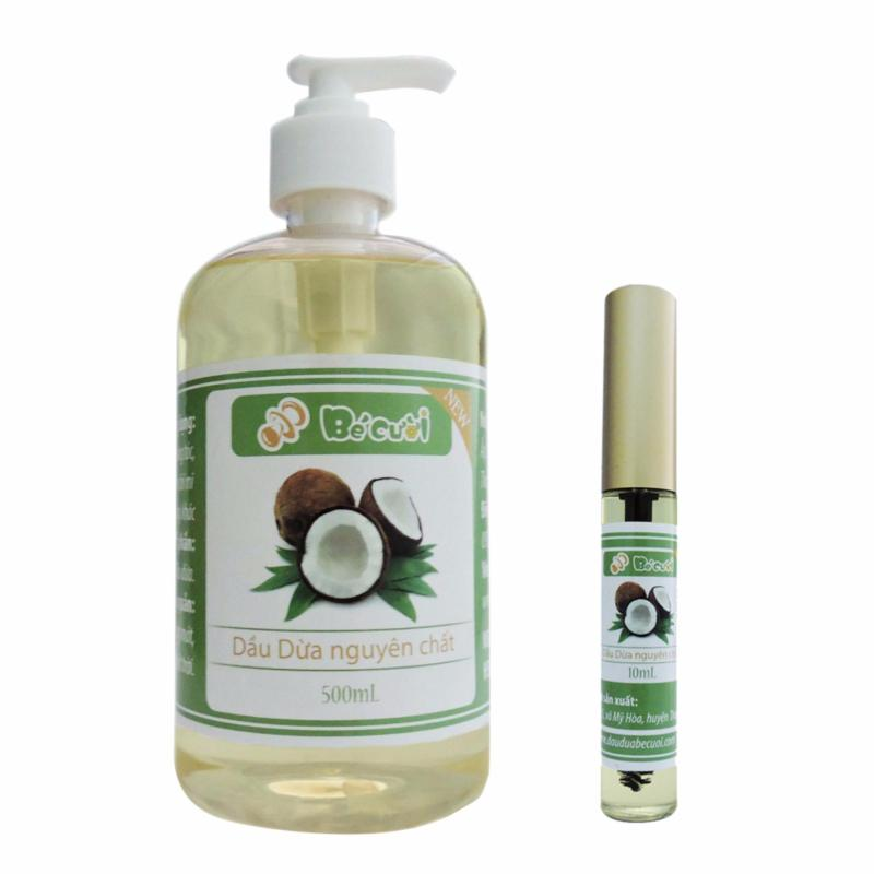 Bộ chai dầu dừa nguyên chất 500ml và Mascara dầu dừa 10ml nhập khẩu