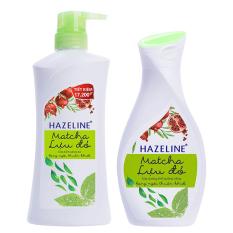 Hình ảnh Bộ chăm sóc cơ thể HAZELINE matcha & lựu đỏ gồm sữa tắm 700g và sữa dưỡng thể 140ml