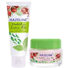 Hình ảnh Bộ chăm sóc da mặt HAZELINE matcha & lựu đỏ gồm sữa rửa mặt 100g và kem dưỡng trắng 45g