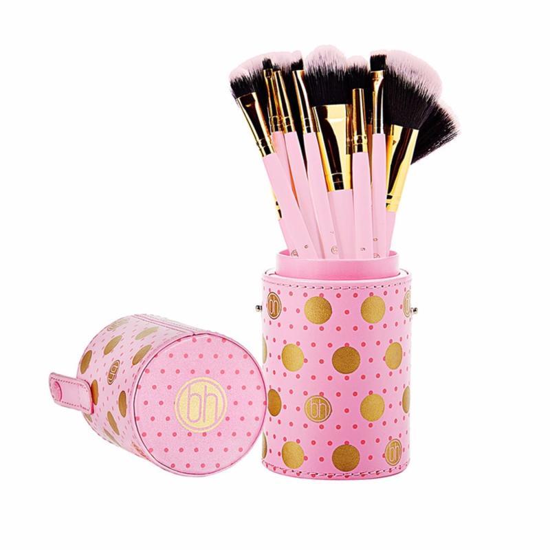 Bộ Cọ 11 Cây BH COSMETICS Dot Collection - 11 Piece Brush Set Pink