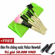 Mua Bộ Cọ Trang Điểm Chuyen Nghiệp 7 Mon Wooden Makeup Kit Xanh La Tặng Đen Pin New4All Hồ Chí Minh