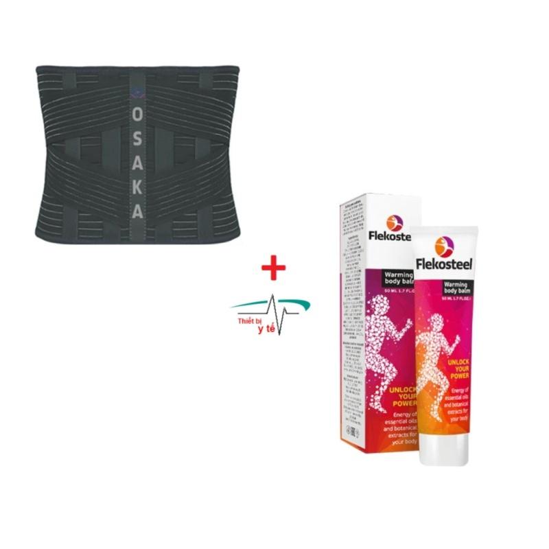 Bộ Đai lưng hỗ trợ điều trị cột sống lưng cao cấp Osaka (size L) và Kem Flekosteel Điều Trị Viêm Xương Khớp và Thoát Vị Đĩa Đệm tốt nhất