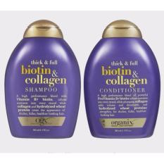 Ôn Tập Bộ Dầu Gội Dầu Xả Ogx Thick Full Biotin Collagen 385Ml Nhập Khẩu Mỹ