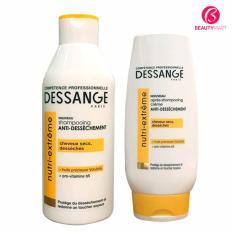 Bộ dầu gội và dầu xả Dessange Nutri Extreme dưỡng tóc hư tổn nhập khẩu