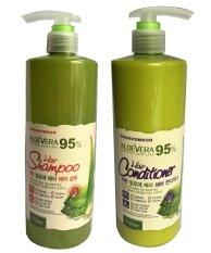 Giá Bán Bộ Dầu Gội Va Dầu Xả Sieu Mượt Danh Cho Toc Hư Tổn Organia White Good Nature Aloe Vera 500G Nguyên
