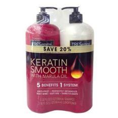 Hình ảnh Dầu gội và xả Tresemme của Mỹ Tresemme Keratin Smooth With Marula Oil 964 ml x2