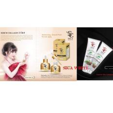 Cửa Hàng Bán Bộ Đoi Gel Tế Bao Chết Serum Face Collagen 3In1 Sica White